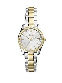 Fossil Scarlette Three-Hand Date Two-Tone Stainles