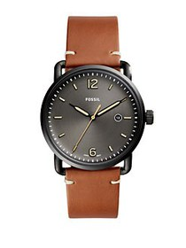 Fossil Leather Strap Watch BROWN