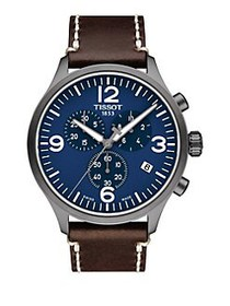 Tissot T-Sport Leather Strap Chronograph Watch BRO