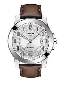 Tissot T-Sport Leather Strap Automatic Watch BROWN