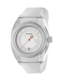 Gucci Sync Stainless Steel Rubber Watch WHITE