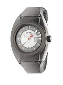 Gucci Sync Stainless Steel Rubber Watch GREY