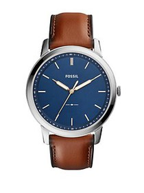 Fossil Casual The Minimalist 3H Blue Dial Watch BR
