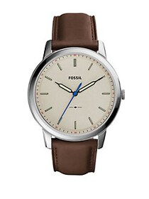 Fossil Casual The Minimalist 3H Leather Strap Watc