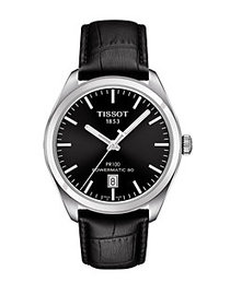 Tissot Tissot PR 100 Stainless Steel Leather Watch