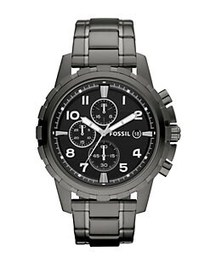 Fossil Mens Dean Smoke Chronograph Watch GREY