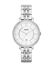 Fossil Jacqueline Stainless Steel and Crystal Watc