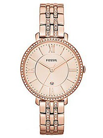 Fossil Jacqueline Rose Goldtone and Crystal Watch