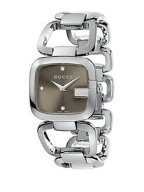 Gucci G-Gucci Diamond & Stainless Steel Open-Link