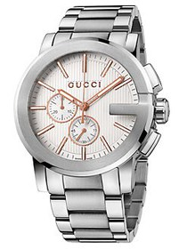 Gucci Stainless Steel Chronograph Watch SILVER