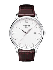 Tissot Mens Traditional Silver Quartz Classic Watc