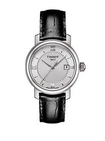 Tissot Bridgeport Stainless Steel Leather Strap Wa