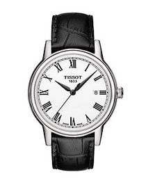 Tissot Men's Carson Watch with Leather Strap BLACK