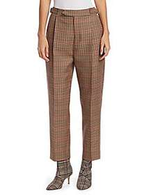 Monse Check High-Waist Pants BROWN