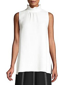 Lafayette 148 New York Didi High Neck Silk Blouse
