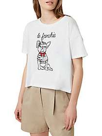 French Connection Le Frenchie Tee WHITE