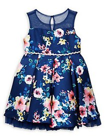 Rare Editions Little Girl's Embellished Floral Dre