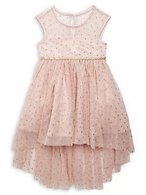Rare Editions Little Girl's Embellished Dress BLUS