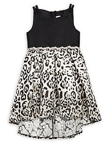 Rare Editions Little Girl's High-Low Leopard-Print