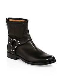 Frye Philip Harness Moto Boots BLACK