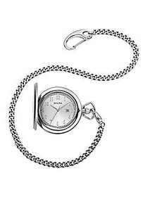 Bulova Classic Stainless Steel Pocket Watch NO COL