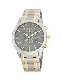 Bulova Two-Tone Stainless Steel Bracelet Watch NO