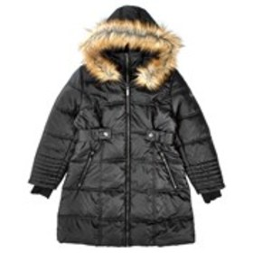 XOXO Girls Puffer Coat with Faux Fur Trim Hood (7-