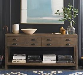 Pottery Barn Architects Reclaimed Wood Console Tab