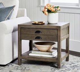 Pottery Barn Architects Reclaimed Wood End Table