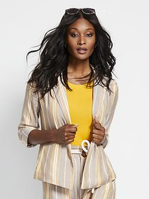 Stripe Open-Front Blazer - New York & Company