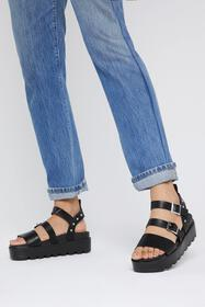 Nasty Gal Womens Black Stud Things Come Cleated Pl