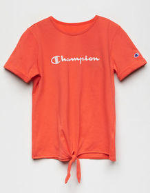 CHAMPION Tie Front Coral Girls Tee_