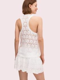 textured lace tank