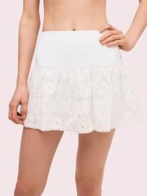 textured lace tennis skirt