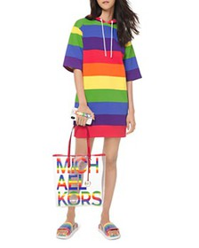 MICHAEL Michael Kors - Rainbow Hoodie Mini Dress