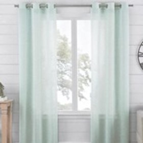 WAVERLY Set of 2 Lenore Sheer Window Curtains - 38