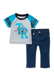 True Religion Varsity Raglan 2-Piece Set (Baby Boy