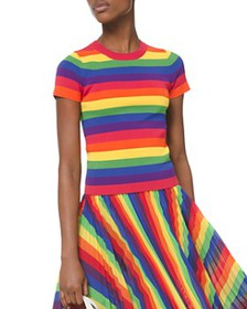 MICHAEL Michael Kors - Short-Sleeve Rainbow Sweate