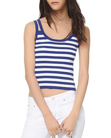MICHAEL Michael Kors - Striped Double-Strap Tank T
