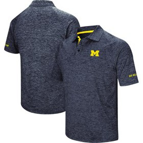 Michigan Wolverines Colosseum Down Swing Polo - Na