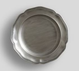 Pottery Barn Pewter Scalloped Charger
