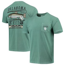 Oklahoma Sooners Fishing Stack Comfort Colors Pock