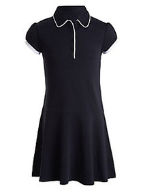 Nautica Little Girl's Cotton-Blend Dress NAVY BLUE