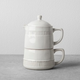 Coffee Pot & Mug Set Cream - Hearth & Hand™ w