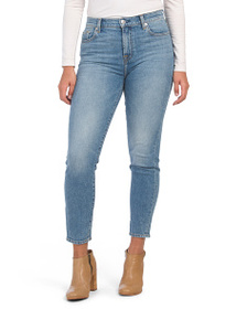 7 FOR ALL MANKIND High Waist Slim Straight Jeans