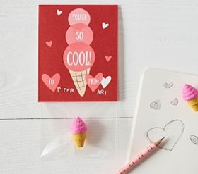 Pottery Barn Ice Cream Classroom Valentine