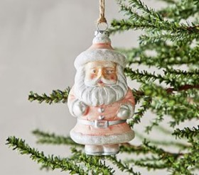 Pottery Barn Mercury Vintage Santa Ornament