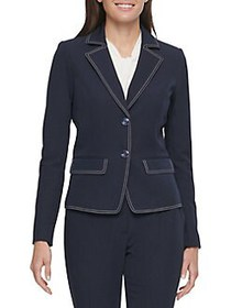 Tommy Hilfiger Pic Stitched Two-Button Jacket MIDN