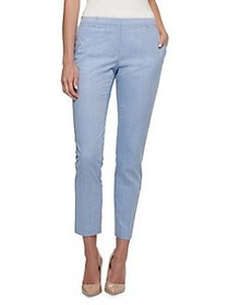 Tommy Hilfiger Mid-Rise Cotton Ankle Pants CHAMBRA