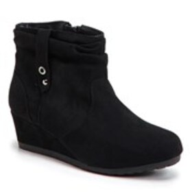 Girls Slouched Wedge Booties